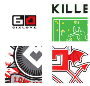 Six Love Tennis Brand Logo